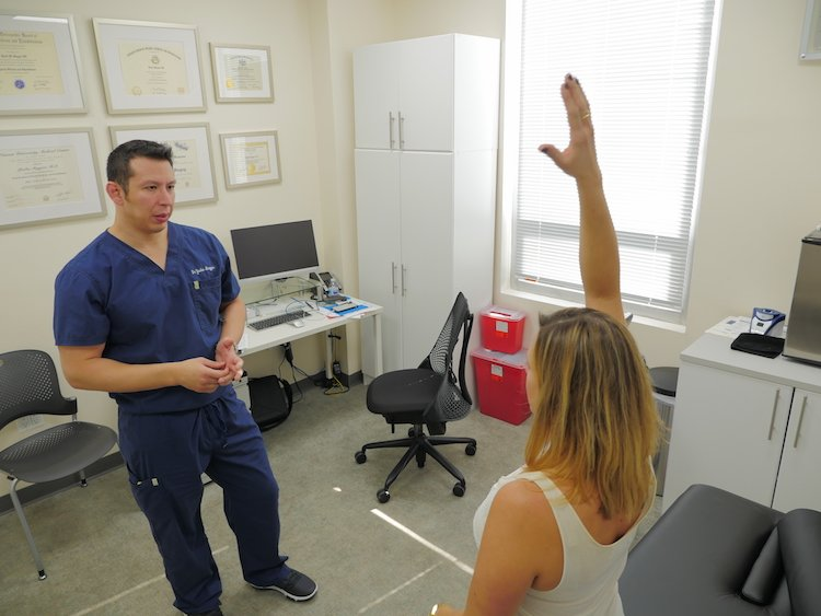 Patient Testing Range of Motion with Yasha Magyar, DO